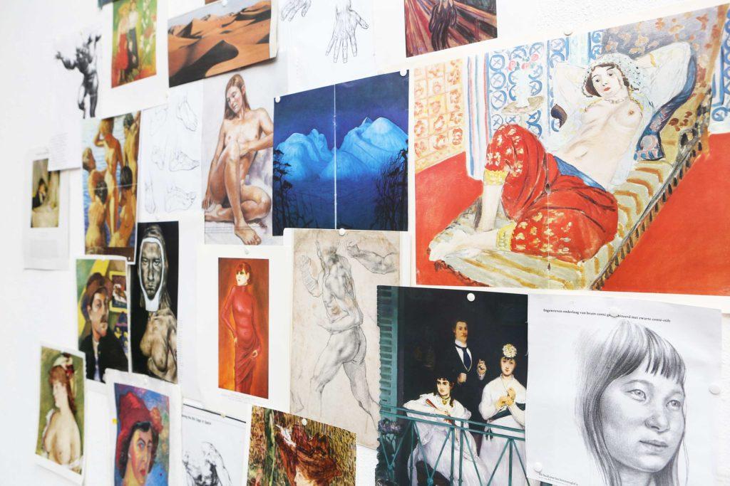 Afbeeldingen als Inspiratiemateriaal voor diverse schilder workshops zoals Van Gogh, Rembrandt, action painting en teambuilding