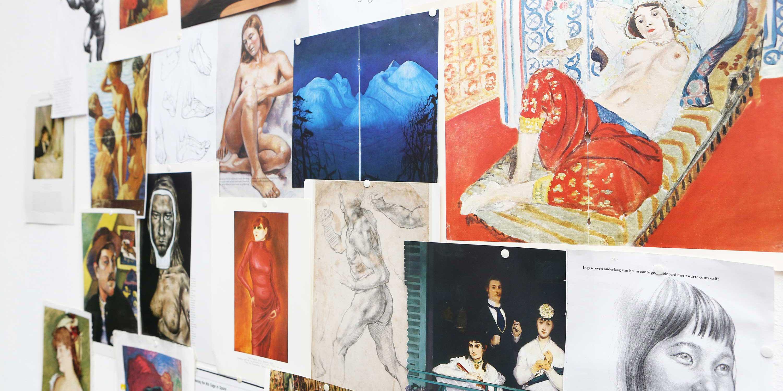 Inspiratie voor de schilder cursus op vrijdag ochtend in het kunstenaars atelier in Amsterdam- Zuid met afbeeldingen van Matisse, Gauguin en Van Dongen