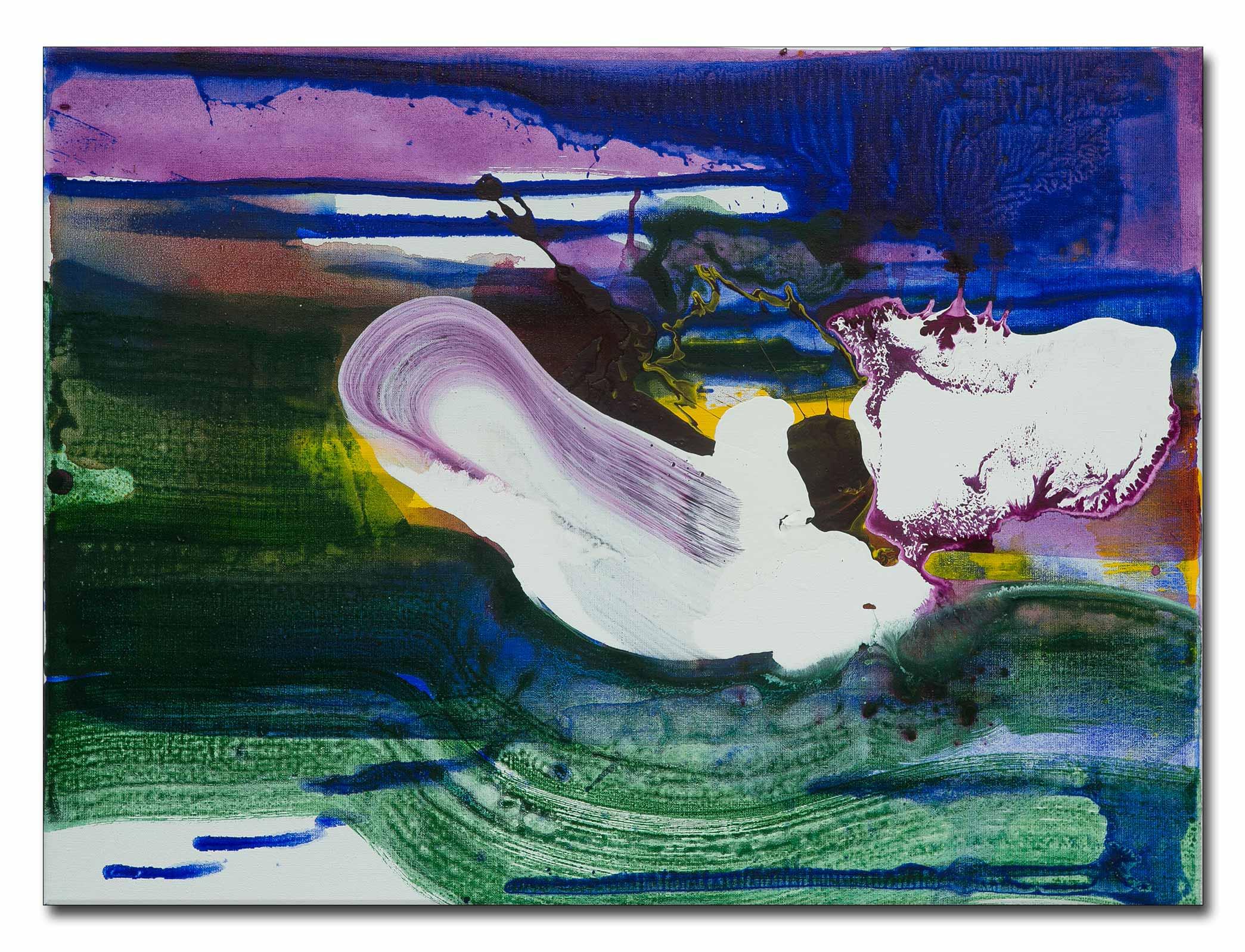Kleurrijk schilderij; abstract of naar de waterlelies van Monet