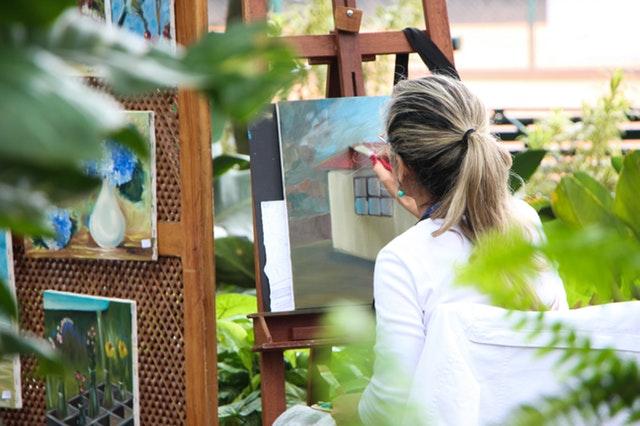 Lekker schilderen wat jij wilt naar een afbeelding, stilleven of fantasie in het atelier bij het Vondelpark